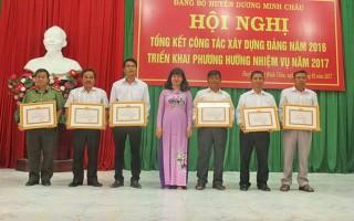Năm 2016, huyện Dương Minh Châu kết nạp mới 137 đảng viên