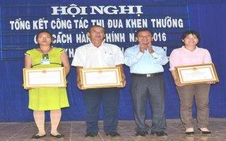 Huyện Dương Minh Châu: Tổng kết công tác thi đua, khen thưởng năm 2016