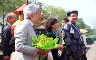 Nhà vua và Hoàng hậu Nhật Bản thưởng thức Nhã nhạc cung đình Huế