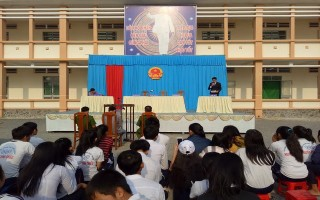 Huyện đoàn Dương Minh Châu: Tổ chức Phiên tòa giả định