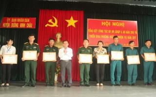 Huyện Dương Minh Châu: Tổng kết công tác quân sự, quốc phòng và an ninh năm 2016