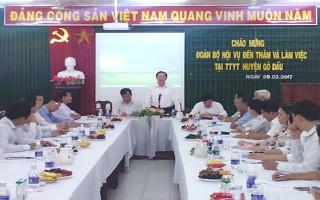 Bộ Nội vụ: Làm việc với Trung tâm y tế huyện Gò Dầu