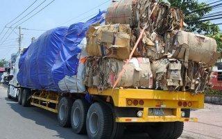 Bến Cầu: Tiếp tục bắt xử lý xe chở phế liệu quá tải