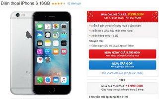 iPhone 6 16 GB giảm giá 3 triệu đón bản 32 GB