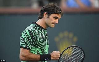 """Tứ kết Indian Wells 2017: Federer """"bất chiến tự nhiên thành"""""""