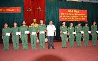 Sư đoàn 5: Họp mặt chính quyền và thân nhân chiến sĩ mới