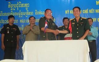 Ban CHQS huyện Dương Minh Châu ký kết quy chế kết nghĩa với Chi khu quân sự thành phố Suong