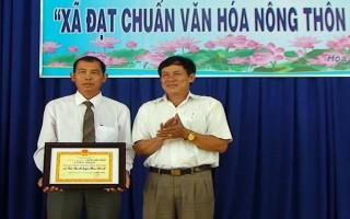 Công nhận xã Hoà Thạnh đạt chuẩn văn hóa nông thôn mới