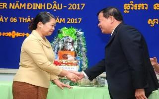 Lãnh đạo tỉnh Tây Ninh: Chúc Tết cổ truyền dân tộc Khmer tại tỉnh Svay Rieng
