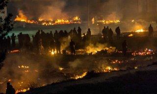 Cháy lớn tại một trại tị nạn ở Pháp