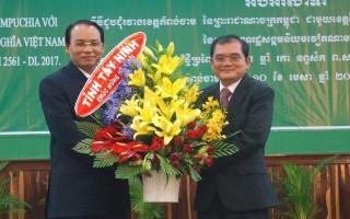 Lãnh đạo tỉnh Tây Ninh thăm, chúc Tết nhân dân tỉnh Kampong Cham
