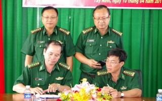 BĐBP Tây Ninh - Long An - Bình Phước ký kết kế hoạch hiệp đồng bảo vệ biên giới và địa bàn tiếp giáp năm 2017