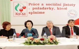 Chủ tịch Quốc hội gặp Chủ tịch Đảng Cộng sản Séc - Morava