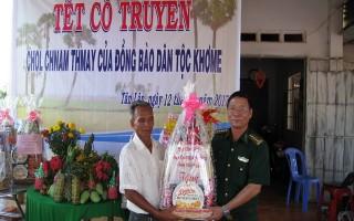 Lãnh đạo tỉnh thăm, chúc tết bà con Khmer ở khu dân cư biên giới Chàng Riệc