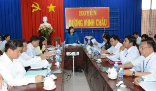 Khảo sát về việc triển khai thực hiện quy hoạch tổng thể phát triển du lịch huyện Dương Minh Châu