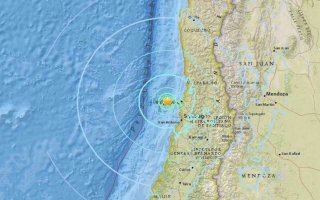 Động đất 7,1 độ Richter ngoài khơi bờ biển Chile