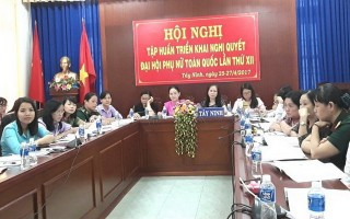 Tập huấn triển khai Nghị quyết Đại hội đại biểu phụ nữ toàn quốc lần thứ XII
