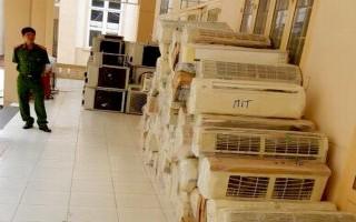 Bắt xe tải chở hàng trăm máy điều hoà nhập lậu