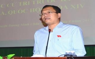 Đại biểu Quốc hội tiếp xúc cử tri huyện Dương Minh Châu trước kỳ họp thứ 3