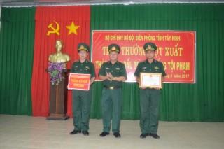 Khen thưởng đột xuất Đồn BP CKQT Mộc Bài và Đồn BP Phước Chỉ
