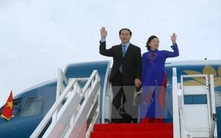 Chủ tịch nước Trần Đại Quang thăm cấp nhà nước tới CHND Trung Hoa