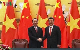 Dư luận Trung Quốc về chuyến thăm của Chủ tịch nước Trần Đại Quang