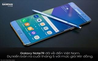 Samsung Galaxy Note 7R có thể được bán ra tại Việt Nam vào cuối tháng 5