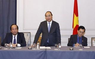 Thủ tướng Nguyễn Xuân Phúc tiếp doanh nhân, trí thức người Việt tại Mỹ