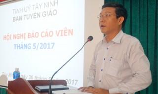 Hội nghị báo cáo viên tháng 5.2017
