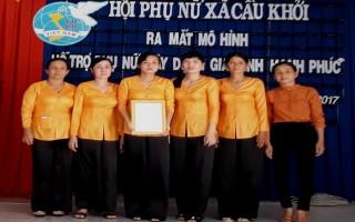 Ra mắt Tổ Phụ nữ hỗ trợ xây dựng gia đình hạnh phúc xã Cầu Khởi