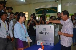 Thống kê sơ bộ: Đảng Nhân dân Campuchia dẫn đầu cuộc bầu cử Hội đồng xã, phường