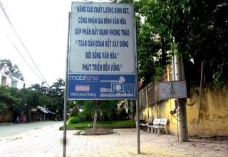 Cổng trường THPT Quang Trung đã sạch đẹp