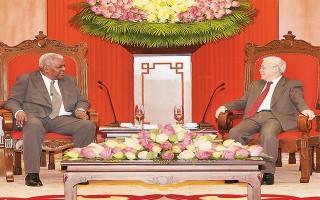 Tổng Bí thư Nguyễn Phú Trọng tiếp Chủ tịch Quốc hội Cu-ba E.La-xô