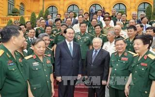 Chủ tịch nước Trần Đại Quang gặp mặt cựu Quân nhân tình nguyện giúp Campuchia