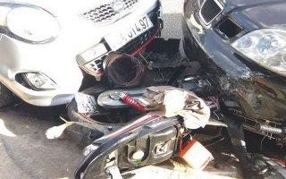 Ôtô mất lái gây tai nạn liên hoàn