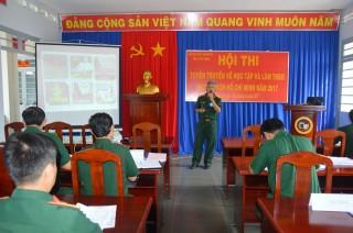 Bộ CHQS tỉnh: Tổ chức hội thi tuyên truyền về học tập và làm theo phong cách Hồ Chí Minh