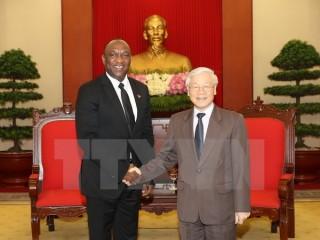 Tổng Bí thư Nguyễn Phú Trọng tiếp Chủ tịch Thượng viện Cộng hoà Haiti
