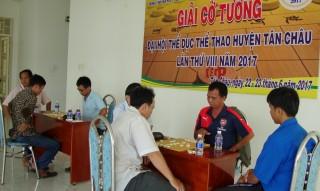 Kết thúc giải cờ tướng Đại hội TDTD huyện Tân Châu