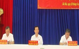 Đại biểu Quốc hội tiếp xúc cử tri huyện Gò Dầu