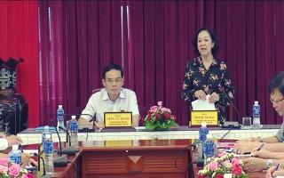 Đoàn Kiểm tra 473 của Ban Bí thư Trung ương Đảng làm việc với Ban Thường vụ Tỉnh uỷ Tây Ninh
