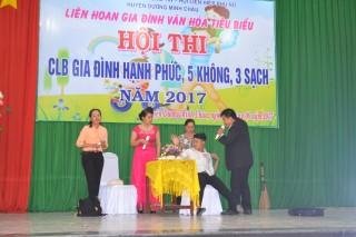 """Hội thi """"CLB Gia đình hạnh phúc, 5 không, 3 sạch"""" huyện Dương Minh Châu"""
