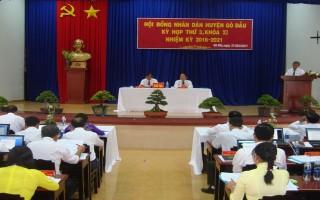Kỳ họp thứ 3 HĐND huyện Gò Dầu khoá XI: Kinh tế đạt được nhiều thành tựu quan trọng