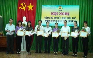 Giải thể Công đoàn Giáo dục huyện Châu Thành