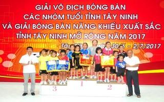 Kết thúc Giải vô địch bóng bàn tỉnh Tây Ninh: Đội Giáo dục và Đào tạo nhất toàn đoàn