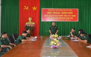 Bộ Chỉ huy BĐBP Tây Ninh đối thoại với cán bộ, chiến sĩ Đồn biên phòng Mộc Bài
