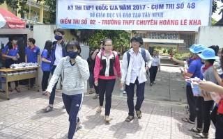 Tây Ninh: Công bố điểm thi THPT quốc gia