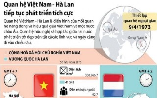 [Infographics] Quan hệ Việt Nam-Hà Lan tiếp tục phát triển tích cực