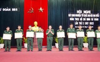 Sư đoàn BB5: Rút kinh nghiệm công tác tổ chức Đại hội đại biểu Đoàn TNCS Hồ Chí Minh