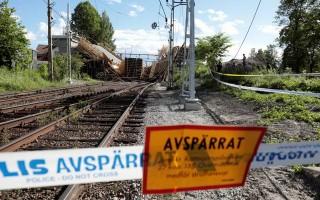 Thuỵ Điển: Sập công trình cầu đang xây, 12 người bị thương