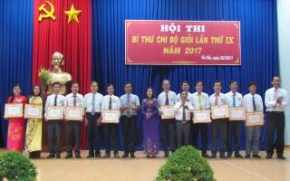 Gò Dầu: Tổ chức hội thi Bí thư chi bộ giỏi 2017